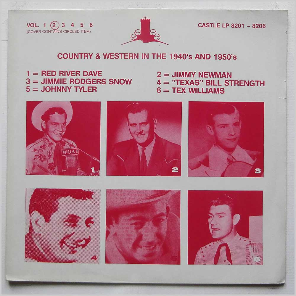 Various - Country and Western in The 1940's and 1950's Volume 2 (CASTLE LP 8201-8206)