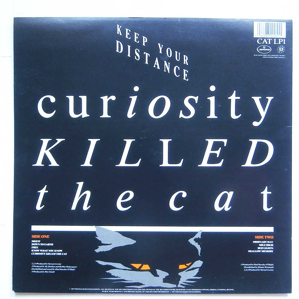 Curiosity Killed The Cat - Keep Your Distance (CAT LP1)