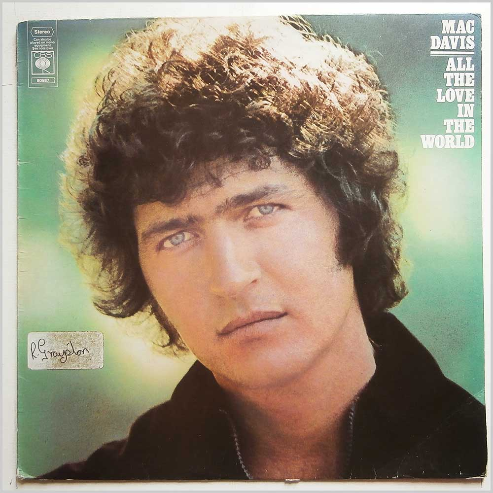 Mac Davis - All The Love in The World (CBS 80587)