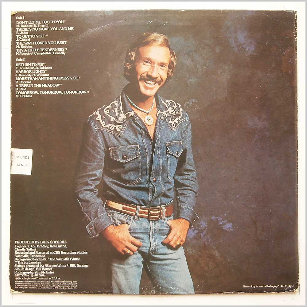 Marty Robbins - Don't Let Me Touch You (CBS 82429)