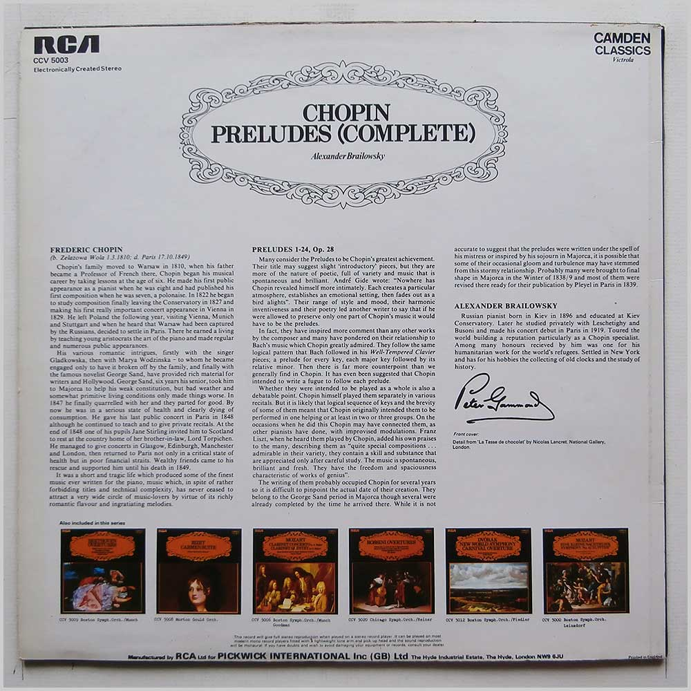 Alexander Brailowsky - Chopin: Preludes (Complete) (CCV 5003)
