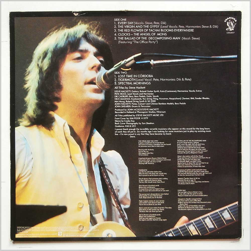 Steve Hackett - Spectral Mornings (CDS4017)