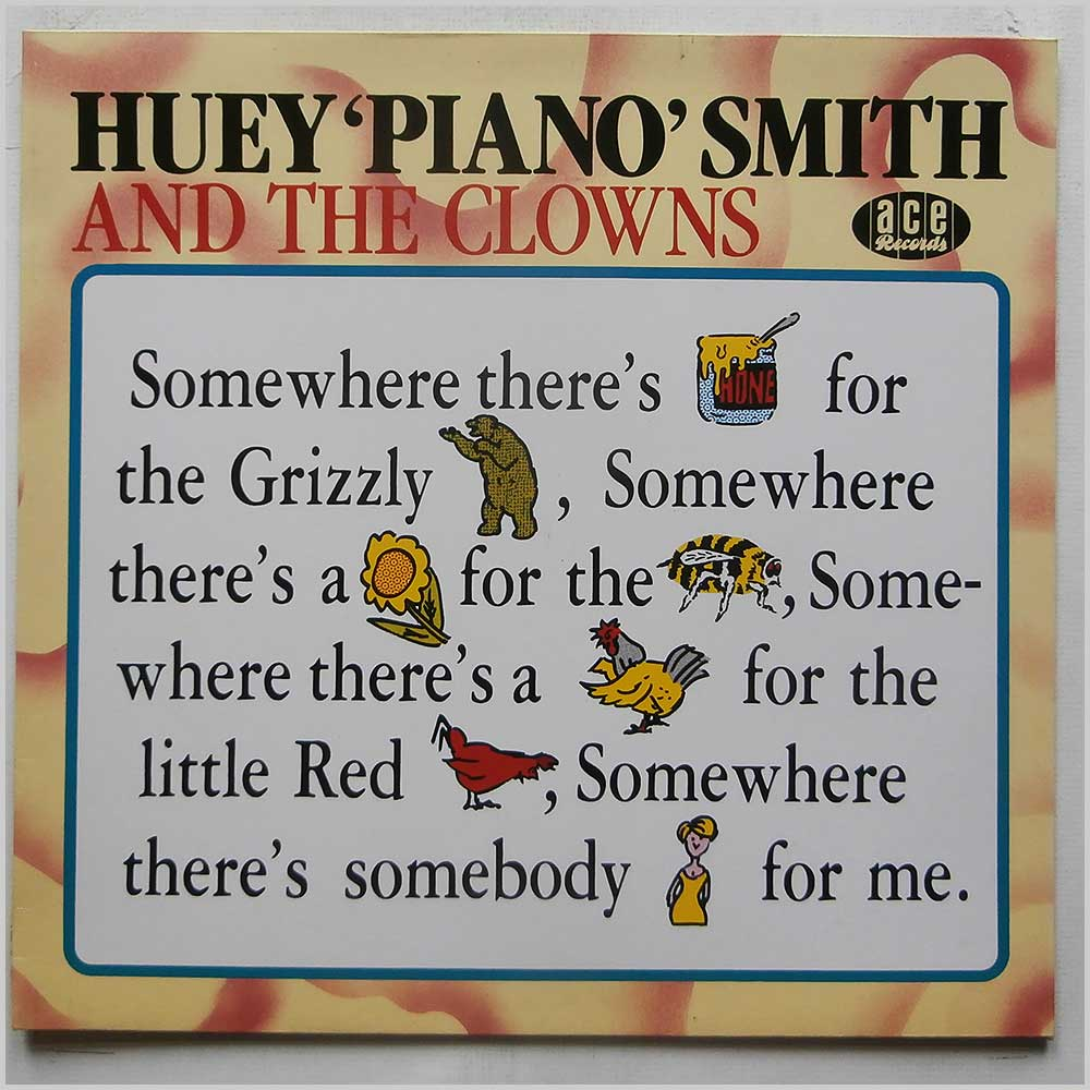 Huey Piano Smith And The Clowns - Somewhere Theres Honey For The Grizzly Bear, Somewhere Theres A Flower For The Bee - rare music LP records for sale