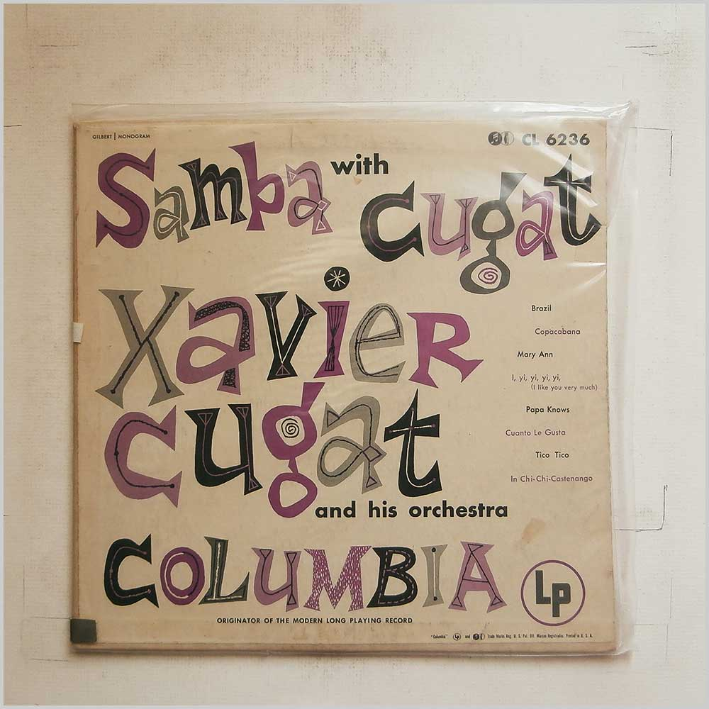 Xavier Cugat and His Orchestra - Samba With Cugat (CL6236)