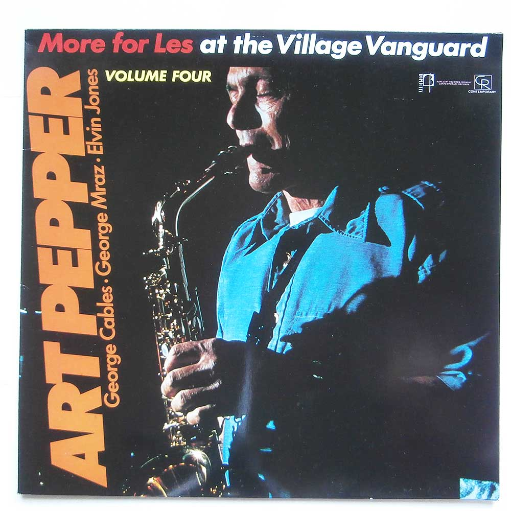 Art Pepper - Art Pepper At The Village Vanguard Vol4-More For Les (COP 025)