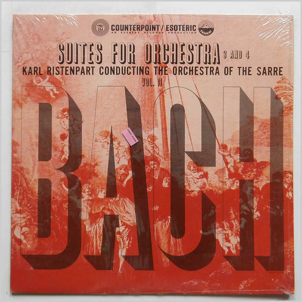 Karl Ristenpart, The Orchestra Of The Sarre - Bach: Suites For Orchestra 3 and 4 Vol. II (CPT-604)