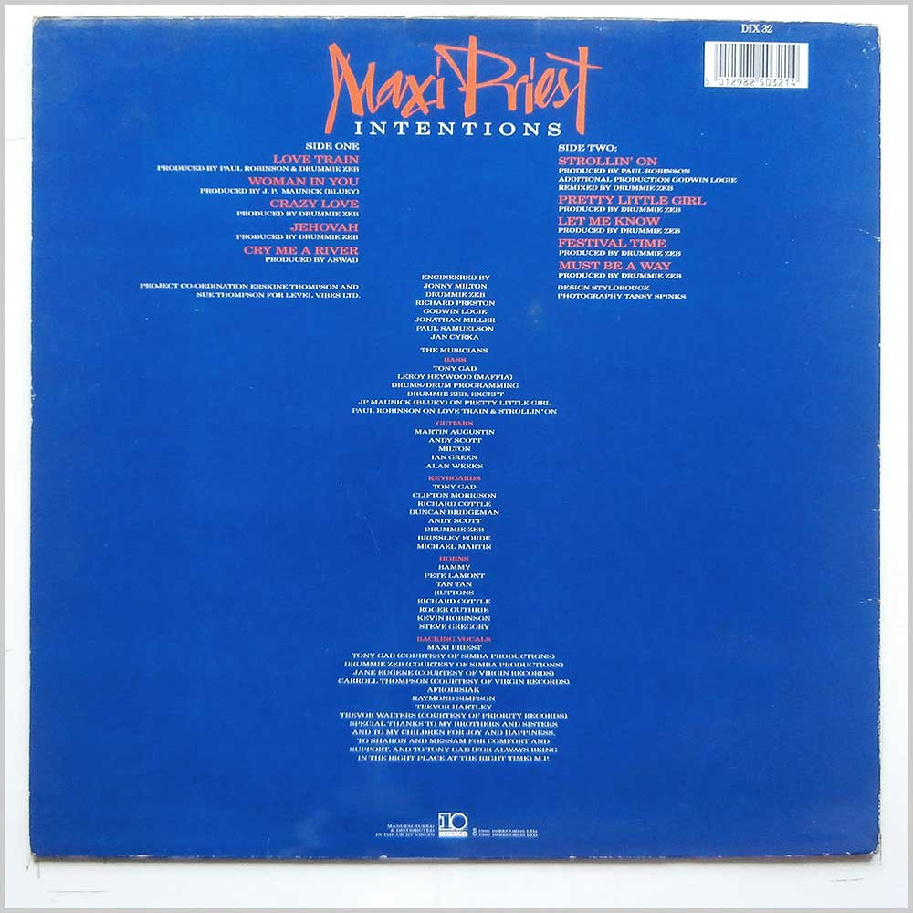 Maxi Priest - Intentions (DIX 32)