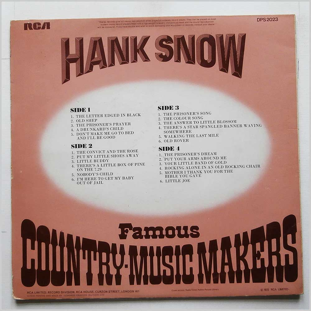 Hank Snow - Famous Country-Music Makers (DPS 2023)