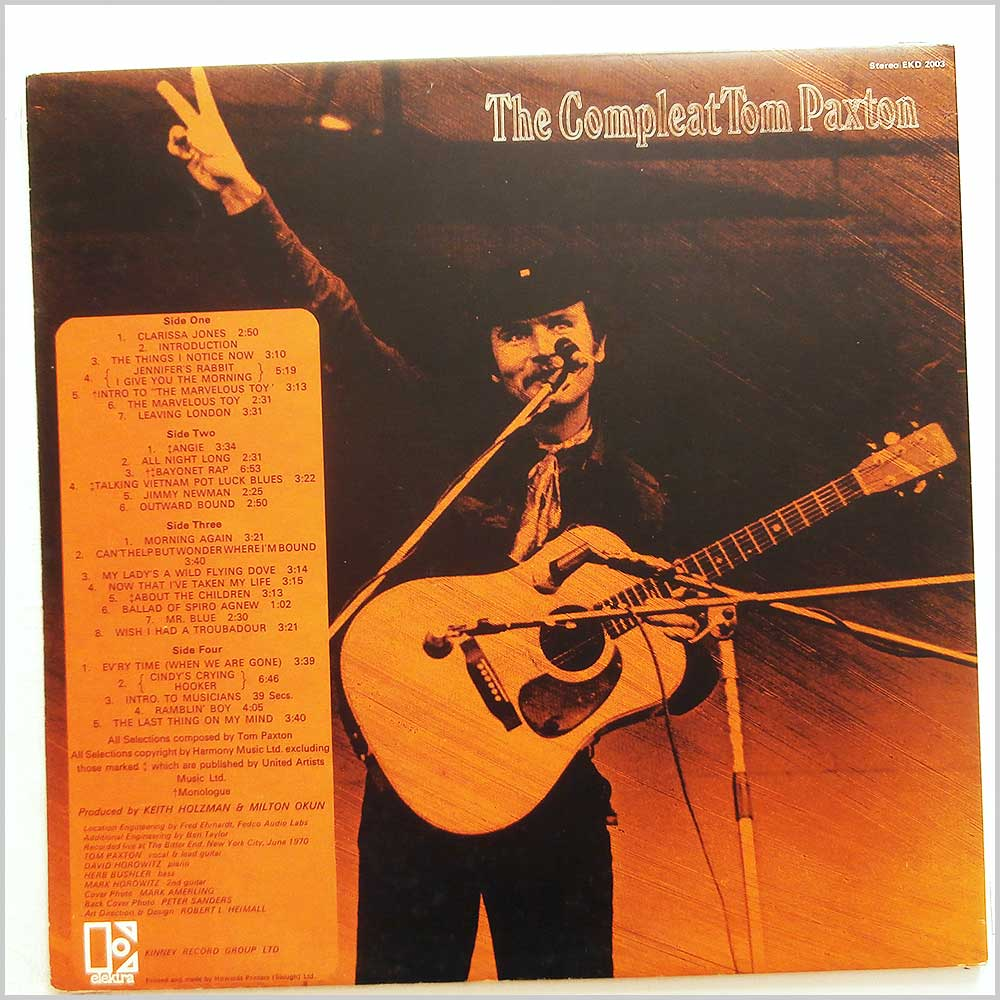 Tom Paxton - The Compleat Tom Paxton (Recorded Live) (EKD 2003)