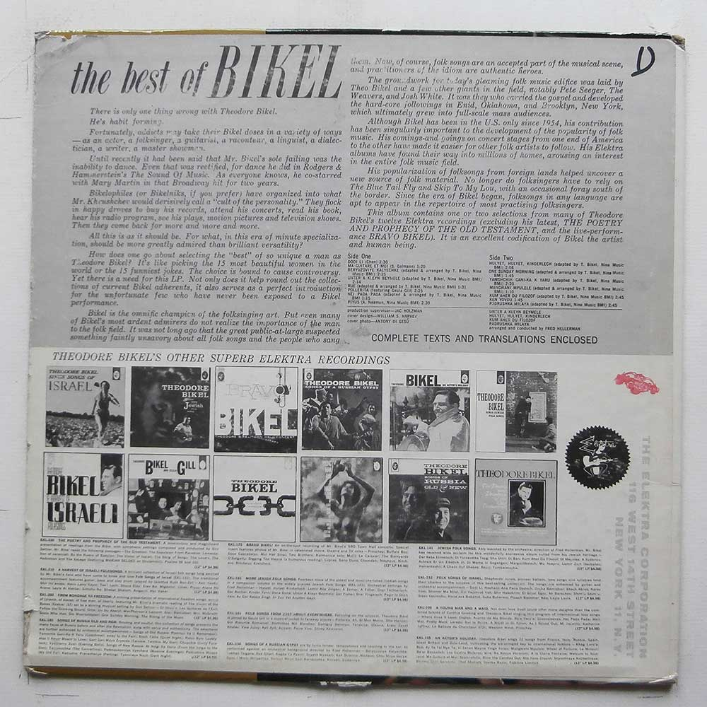 Theodore Bikel - The Best Of Bikel (EKL-225)