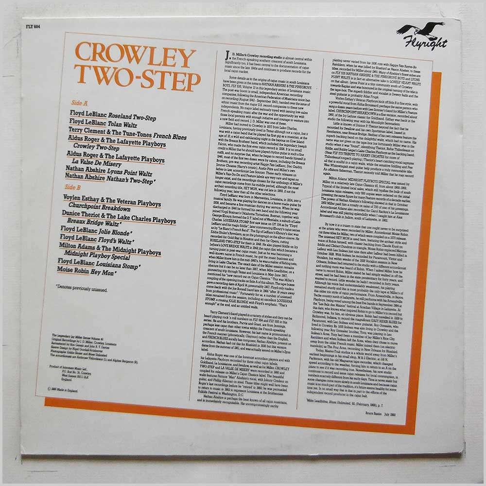 Various - Crowley Two-Step (FLY 604)