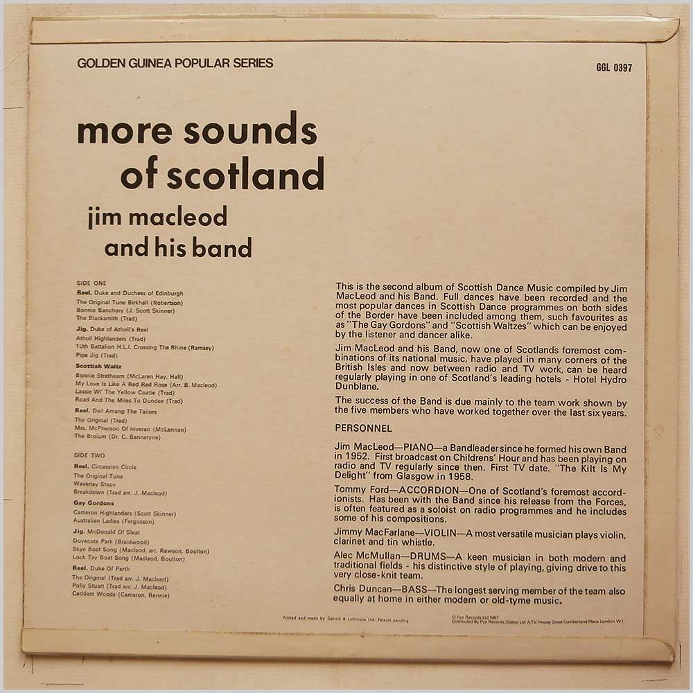 Jim MacLeod and His Band - More Sounds Of Scotland (GGL 0397)