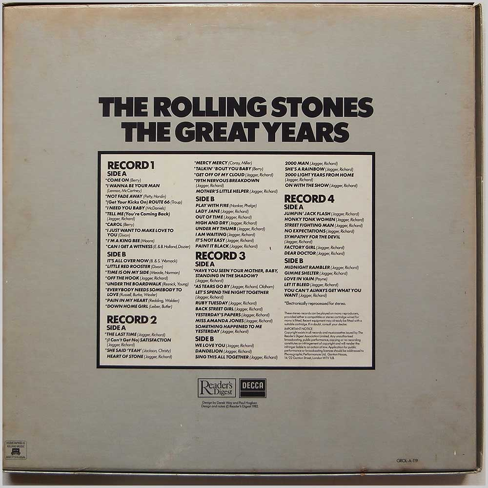 The Rolling Stones - The Great Years (GROL-A-1-119)