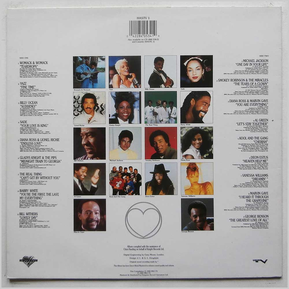 Various - Heart and Soul: 18 Classic Soul Cuts (HASTV 1)