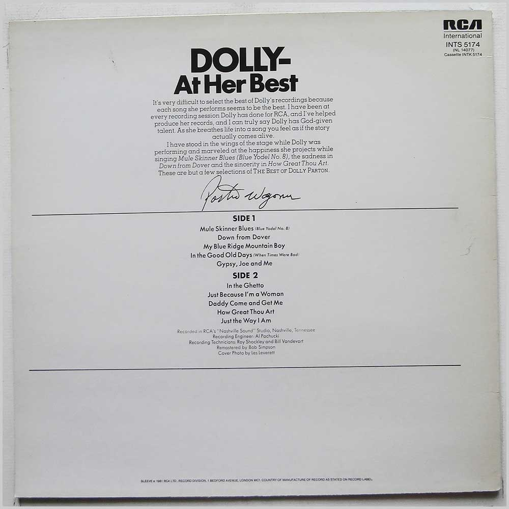 Dolly Parton - The Best Of Dolly Parton (INTS 5174)