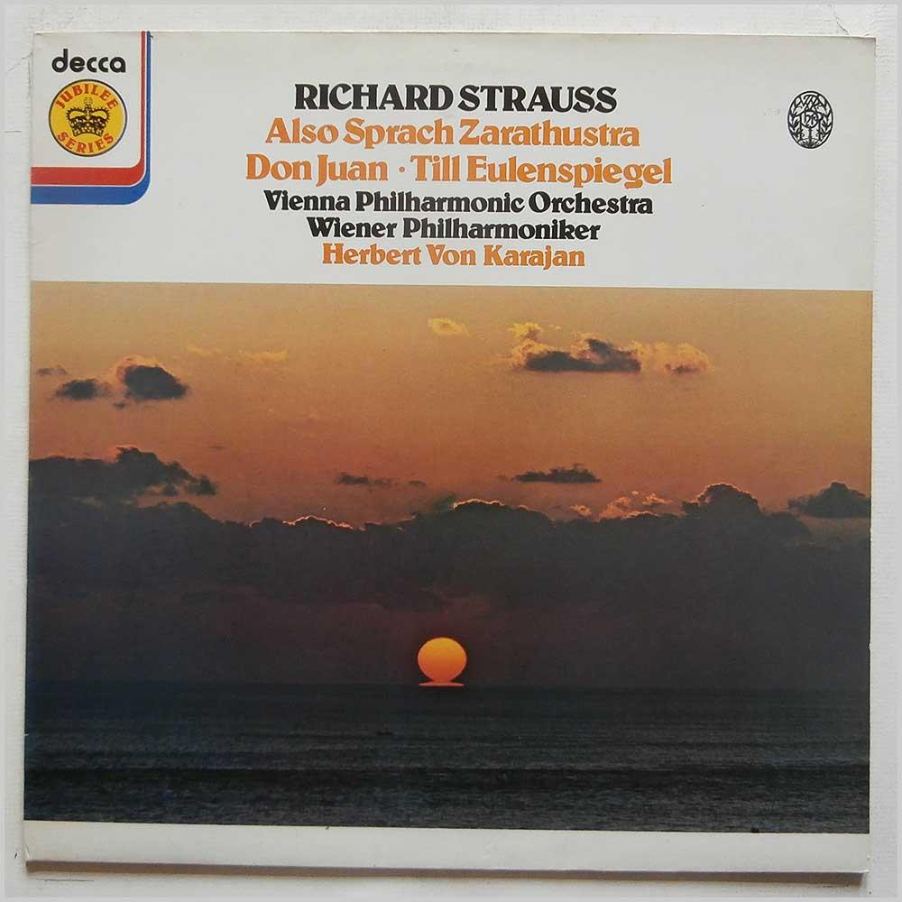 herbert von karajan, vienna philharmonic orchestra richard strauss: also sprach zarathustra, don juan, till eulenspiegel