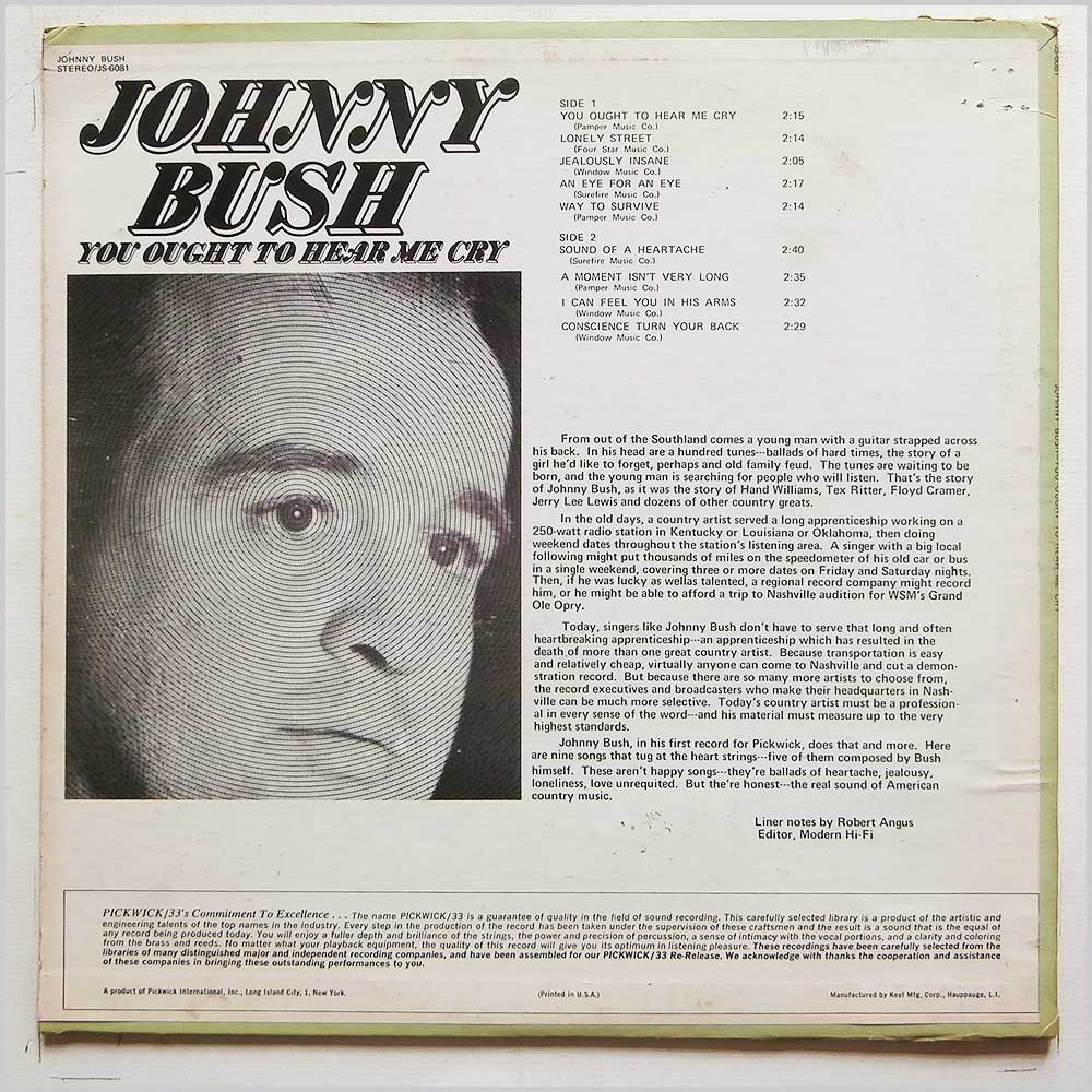 Johnny Bush - You Ought To Here Me Cry (JS-6081)