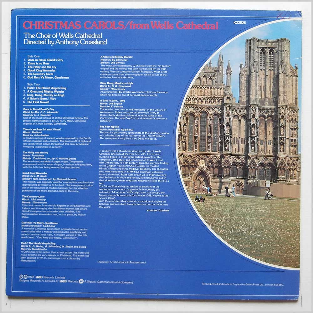 Anthony Crossland, The Choir Of Wells Cathedral - Christmas Carols From Wells Cathedral (K23525)