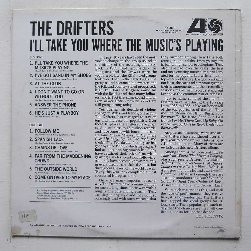 The Drifters - I'll Take You Where Music's Playing (K40009)