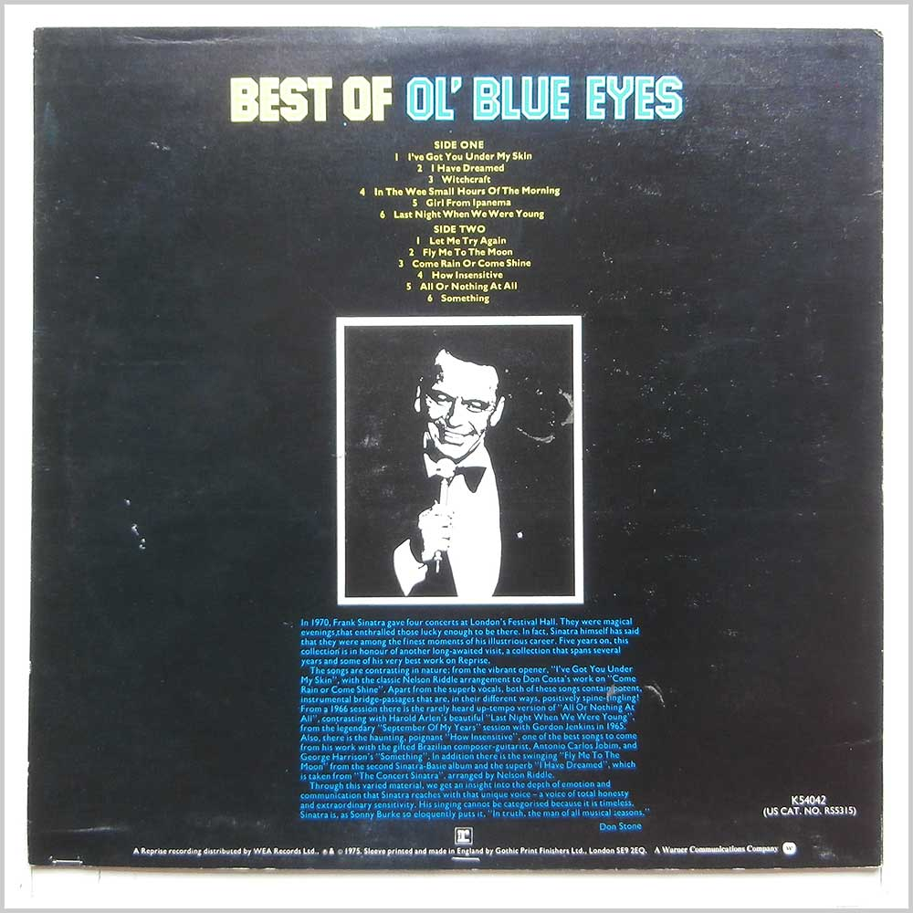 Frank Sinatra - Best Of Ol' Blue Eyes (K54042)
