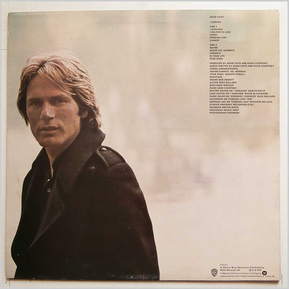 Adam Faith - I Survive (K56054)