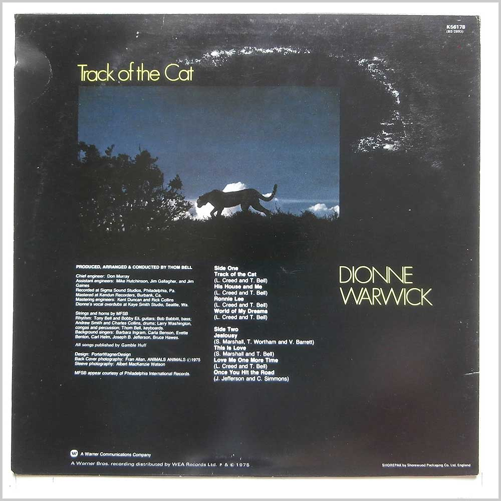 Dionne Warwick - Track The Cat (K56178)