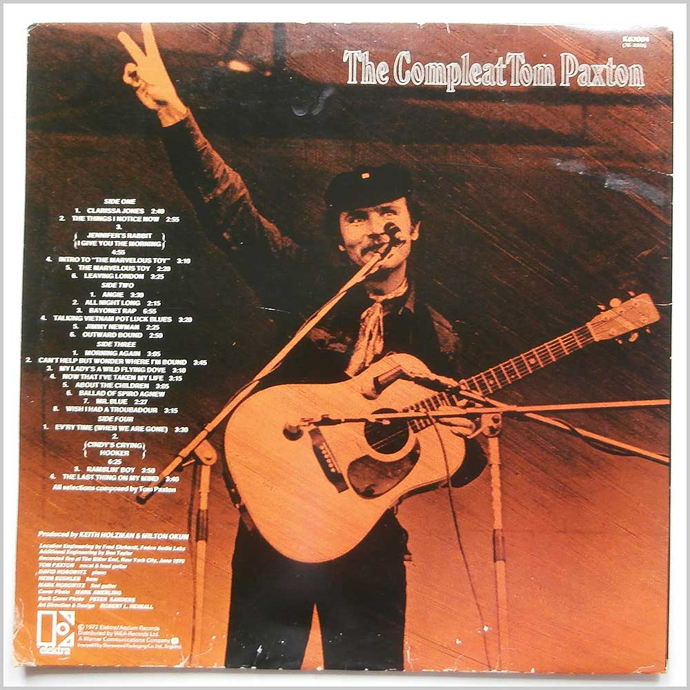 Tom Paxton - The Compleat Tom Paxton Recorded Live (K 62004)