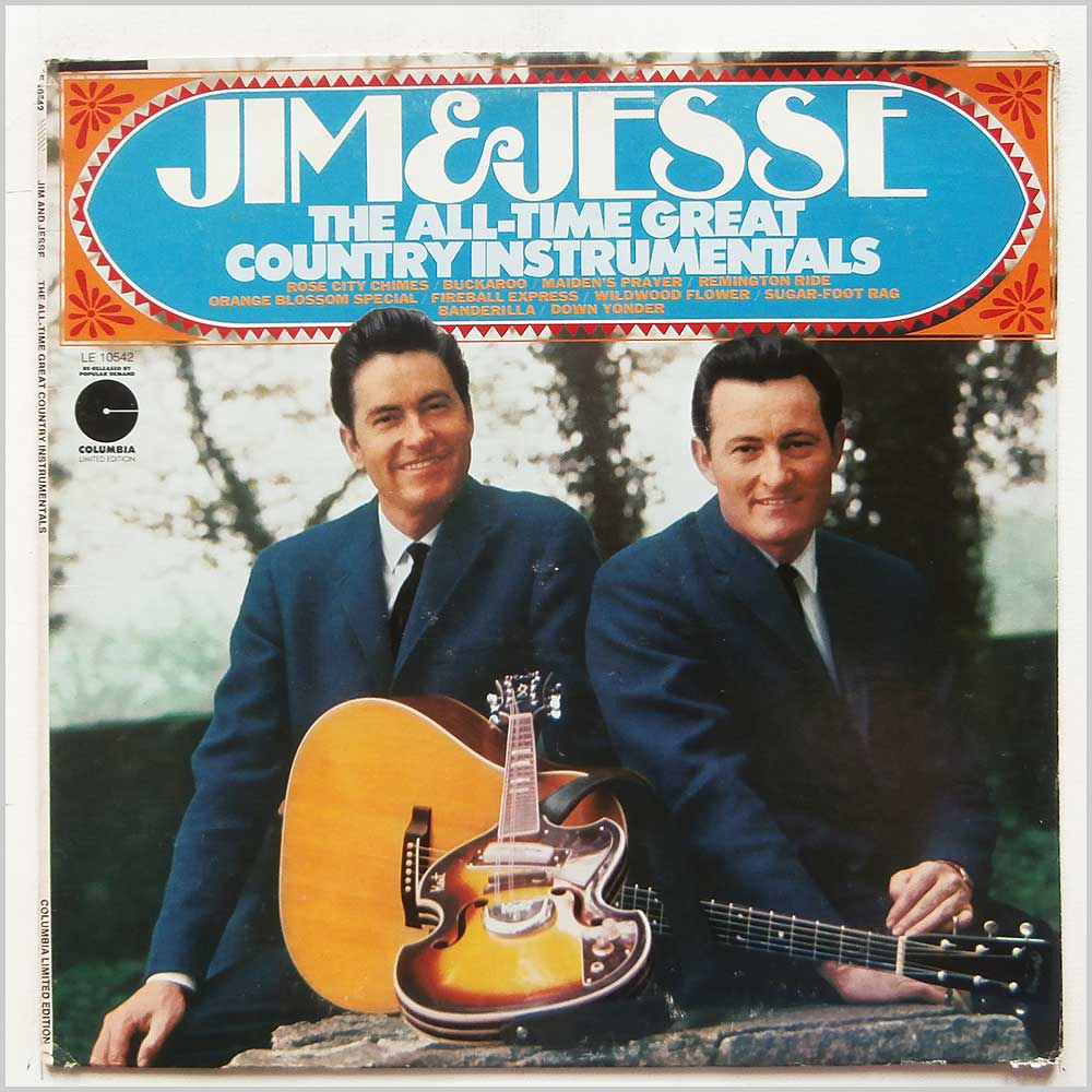 Jim and Jesse - The All-Time Great Country Instrumentals (LE 10542)