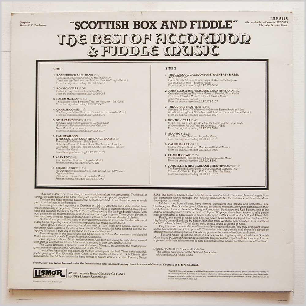 Various - Scottish Box And Fiddle: The Best Of Accordion and Fiddle Music (LILP 5115)