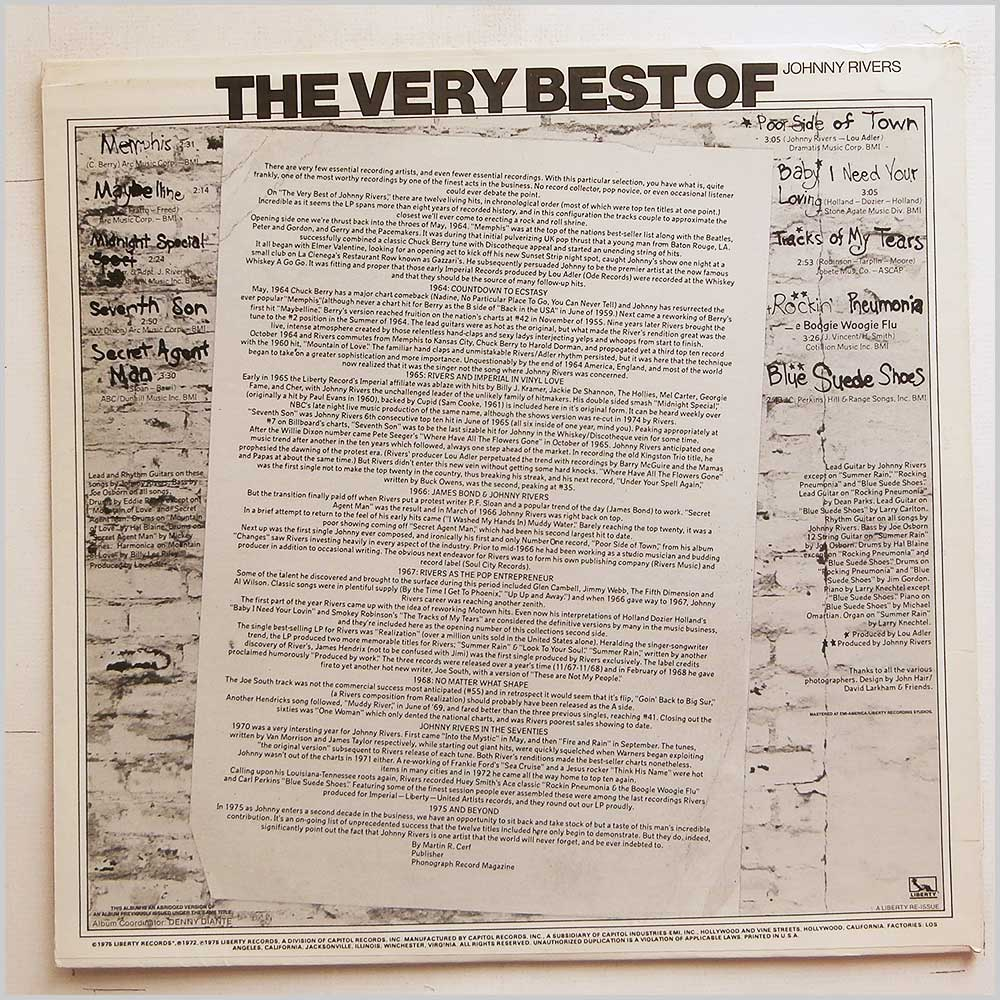 Johnny Rivers - The Very Best Of Johnny Rivers (LN-10120)