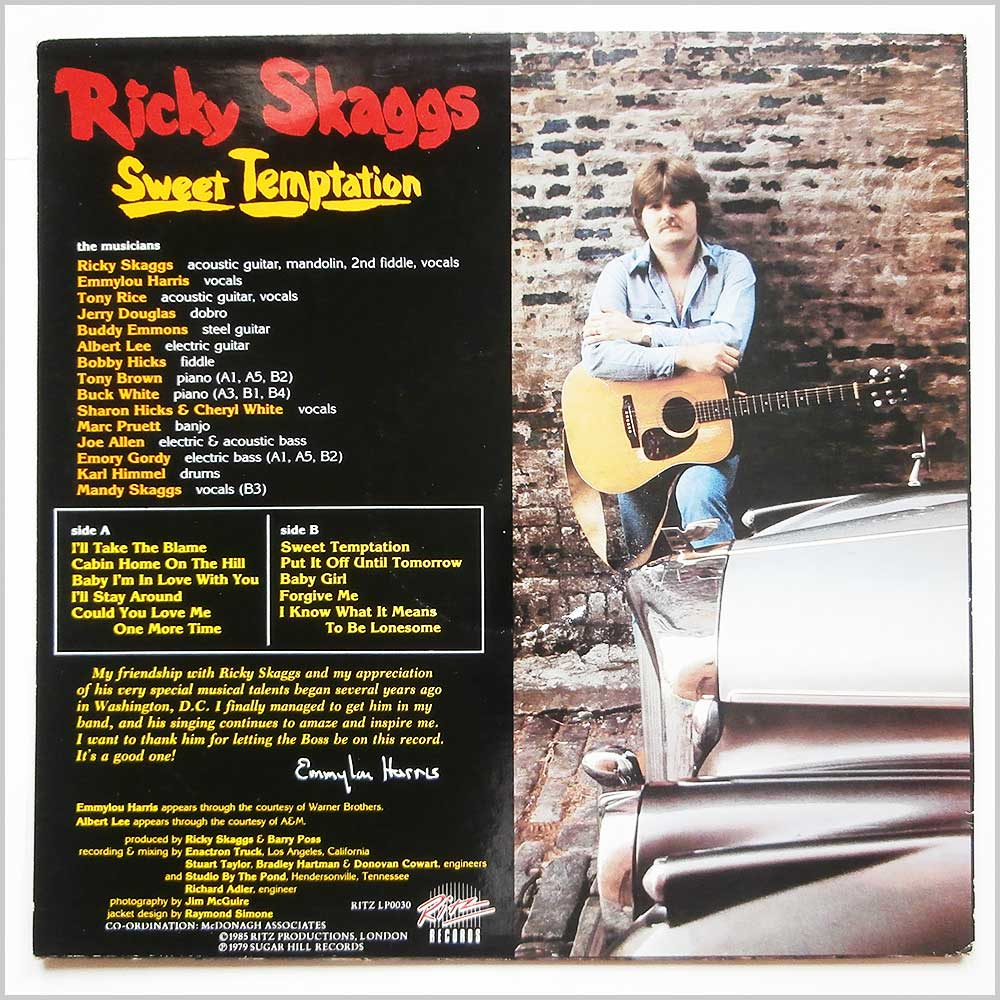 Ricky Skaggs - Sweet Temptation (LP0030)