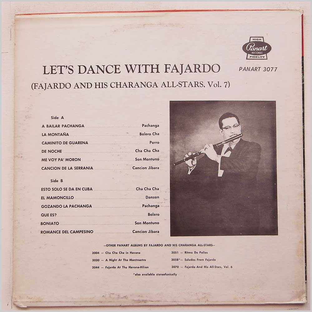Fajardo - Let's Dance With Fajardo (LP-3077)
