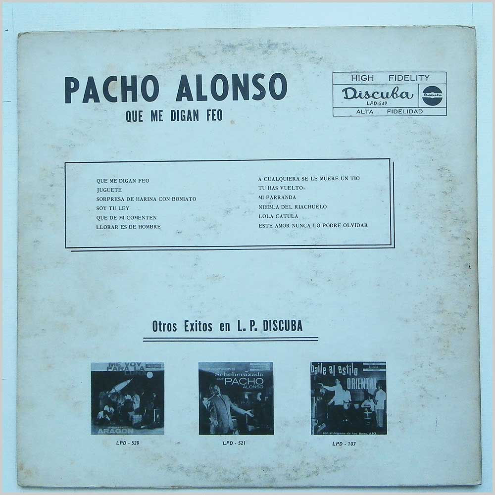 Pacho Alonso - Que Me Digan Feo! (LPD-549)