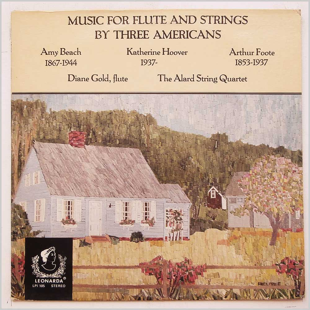 Diane Gold, The Alard String Quartet - Music For Flute and Strings By Three Americans (LPI 105)