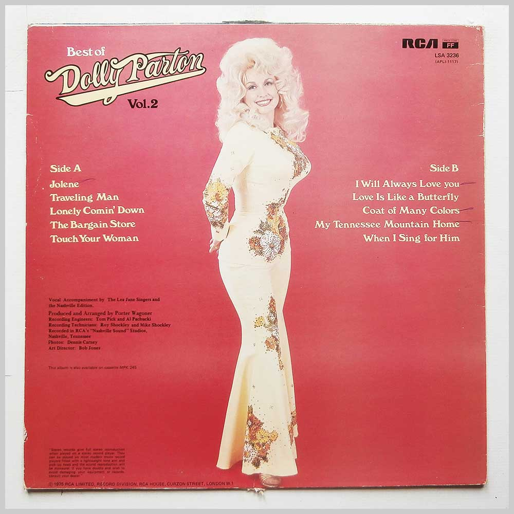 Dolly Parton - Best Of Dolly Parton Vol.2 (LSA 3236)