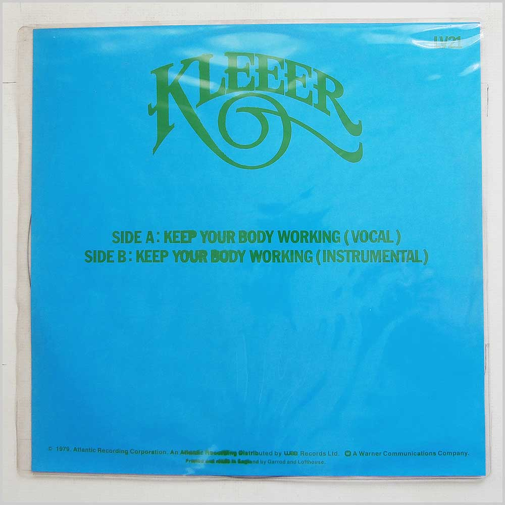 KLEEER - Keep Your Body Working - 12 inch 45 rpm