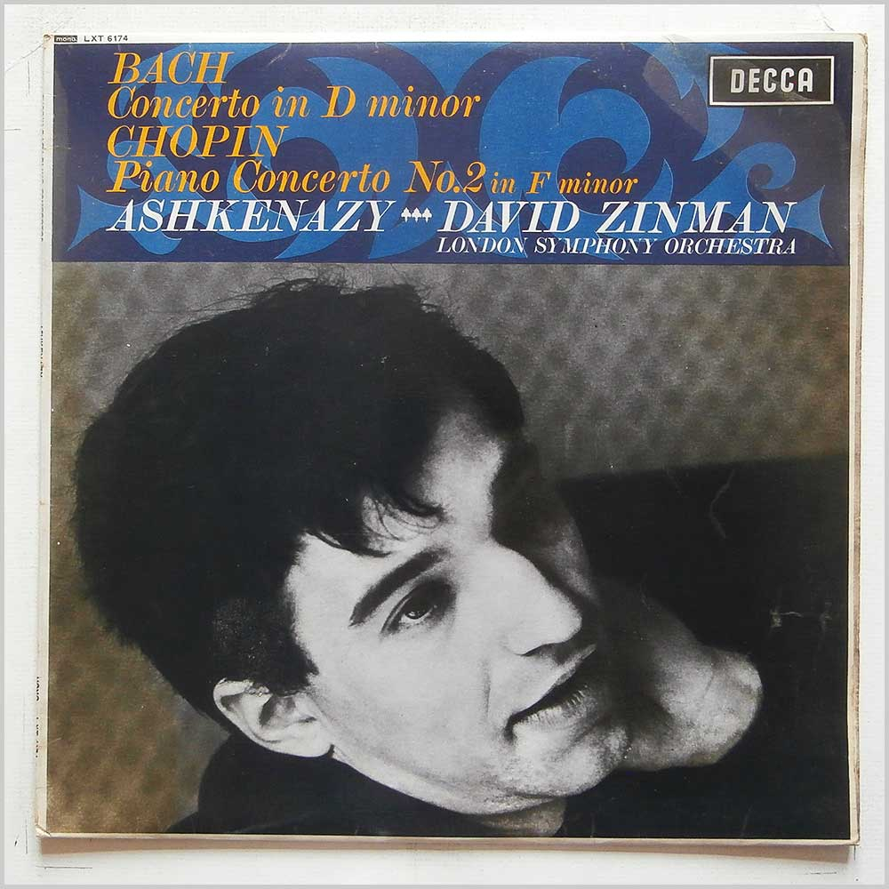 Vladimir Ashkenazy, David Zinman - Bach: Concerto in D Minor, Chopin: Piano Concerto No. 2 in F Minor (LXT 6174)