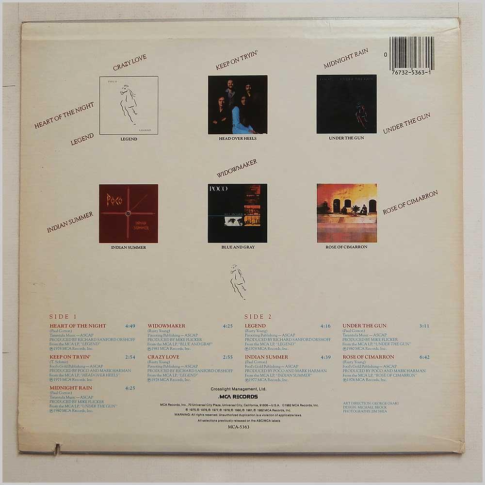 Poco Vinyl Record Rock Blues Music LP Rock Music Record LP for sale