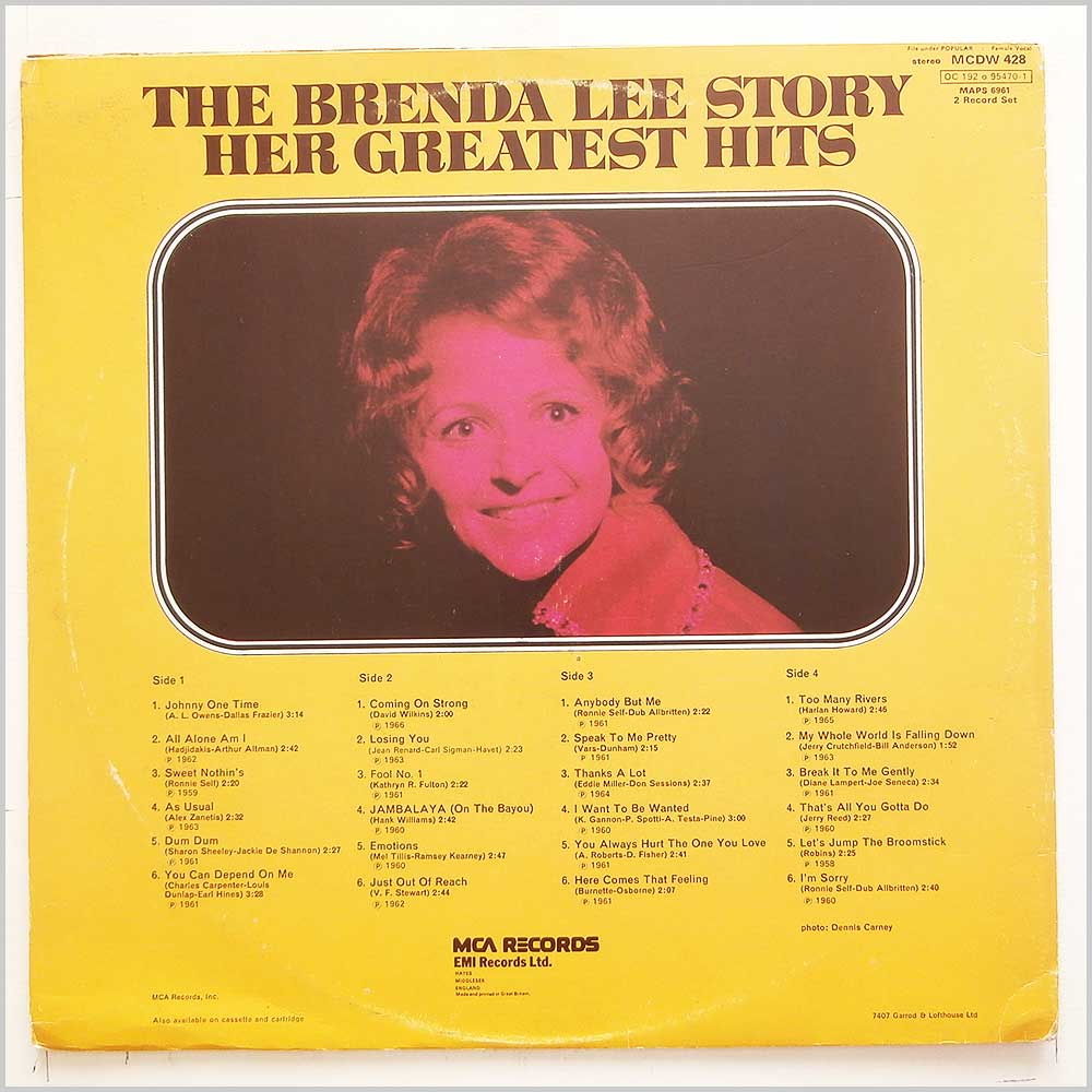 Brenda Lee - The Brenda Lee Story Her Greatest Hits (MCDW 428)