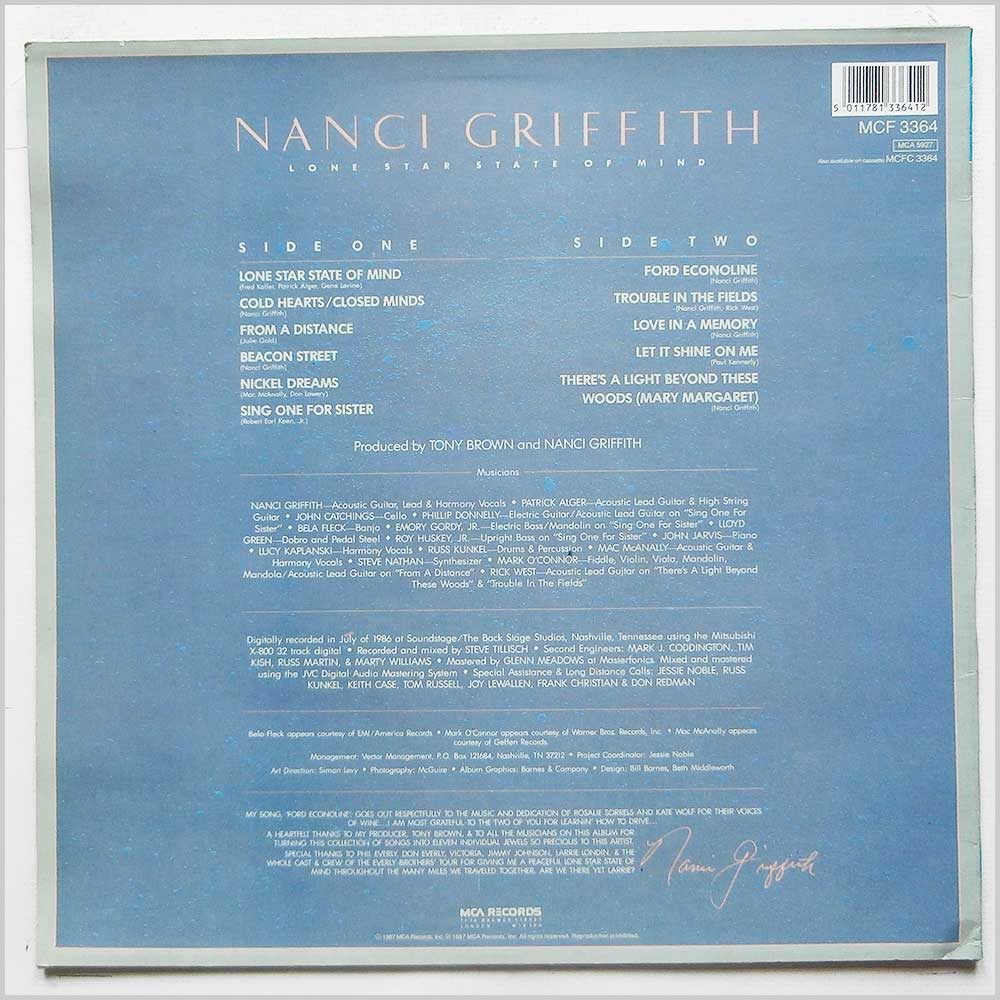 Nanci Griffith - Lone Star State of Mind (MCF 3364)