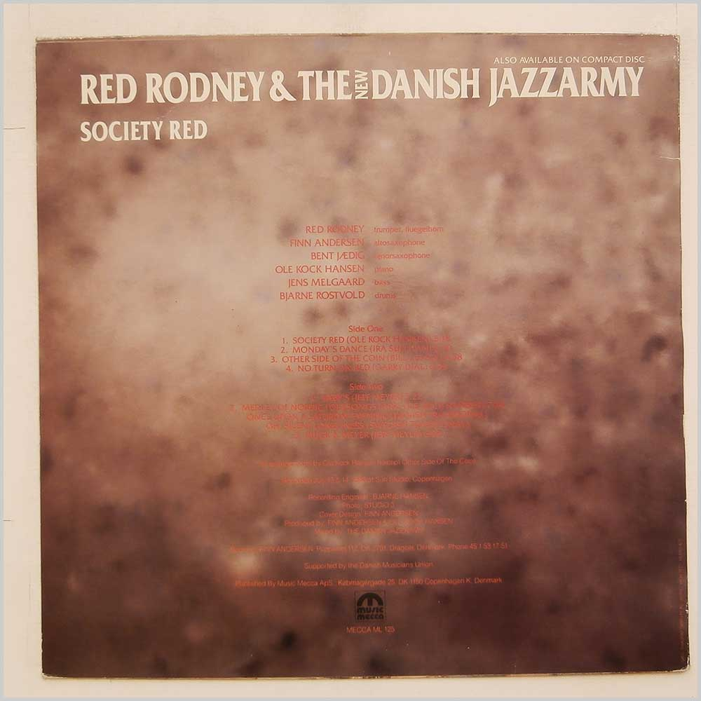 Red Rodney And The New Danish Jazzarmy - Society Red (MECCA ML 125)