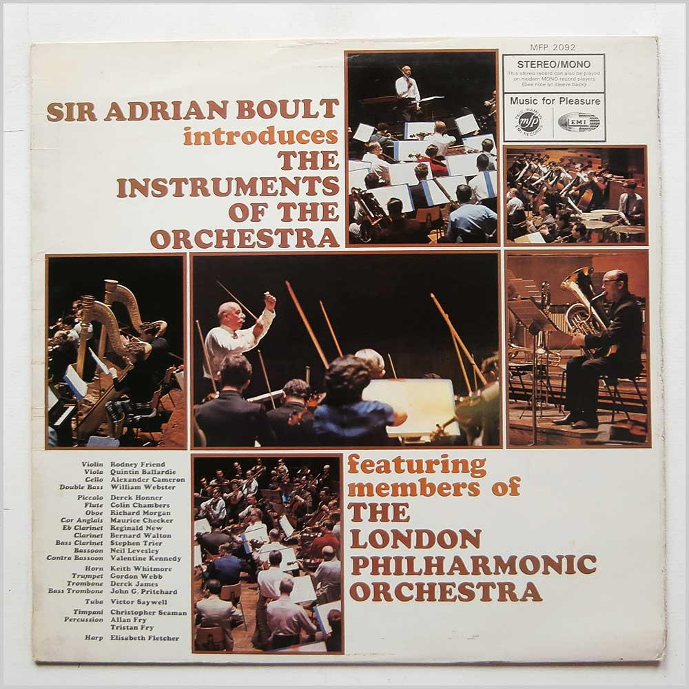 Sir Adrian Boult - Sir Adrian Boult Introduces The Instruments Of The Orchestra (MFP 2092)