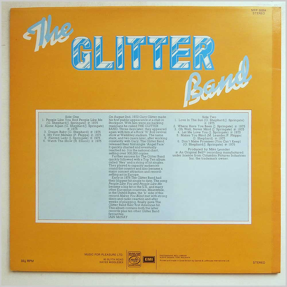 The Glitter Band - People Like You And People Like Me (MFP 50354)