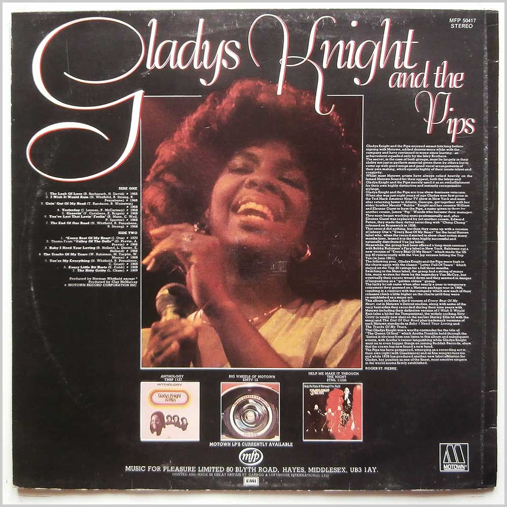 Gladys Knight and The Pips - The Look Of Love (MFP 50417)