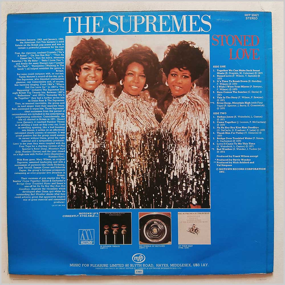 The Supremes - Stoned Love (MFP 50421)