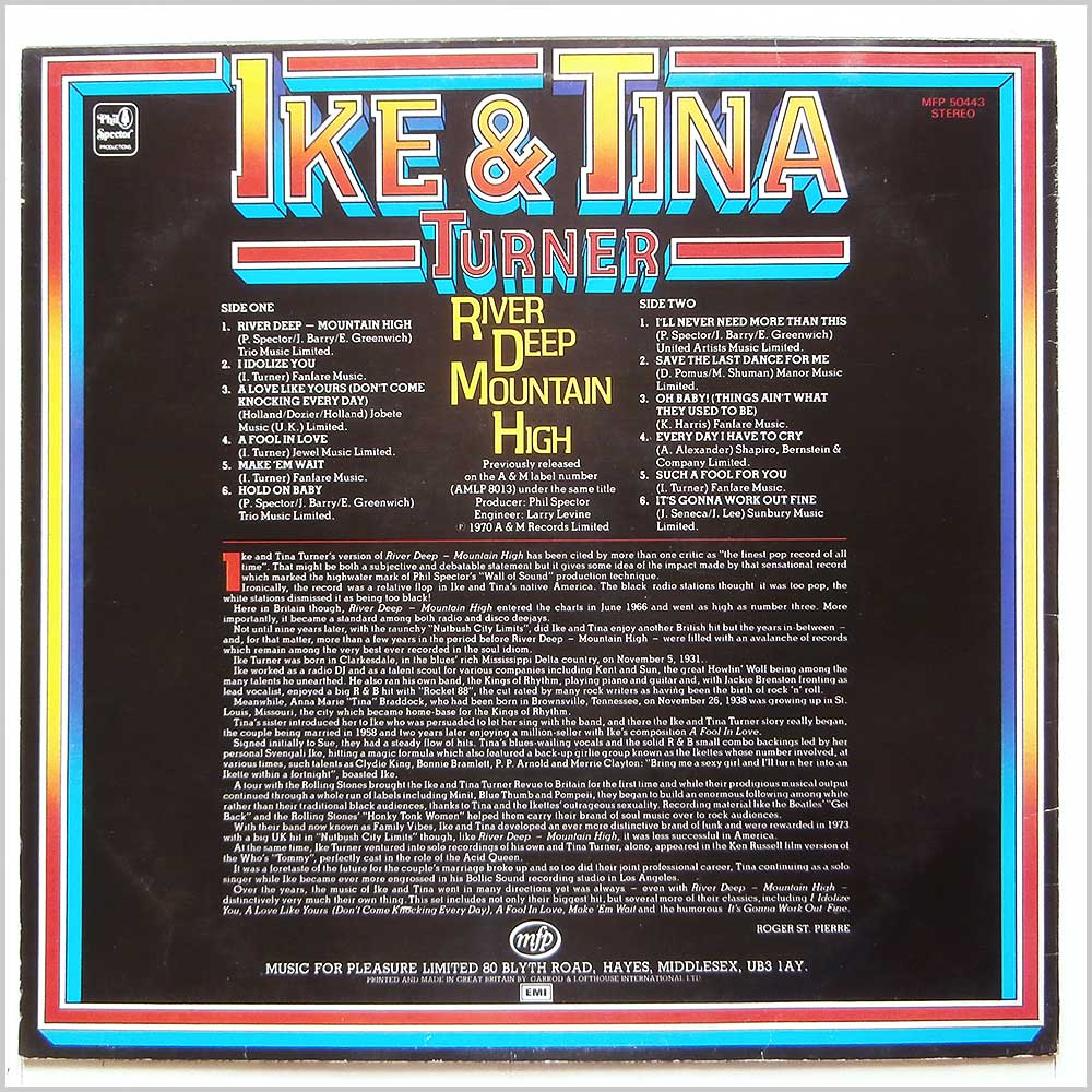 Ike and Tina Turner - River Deep Mountain High (MFP 50443)