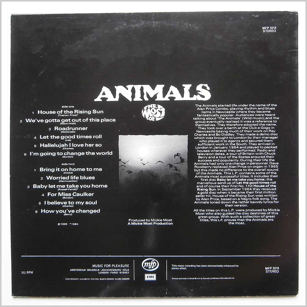 Animals - The Most Of (MFP 5218)