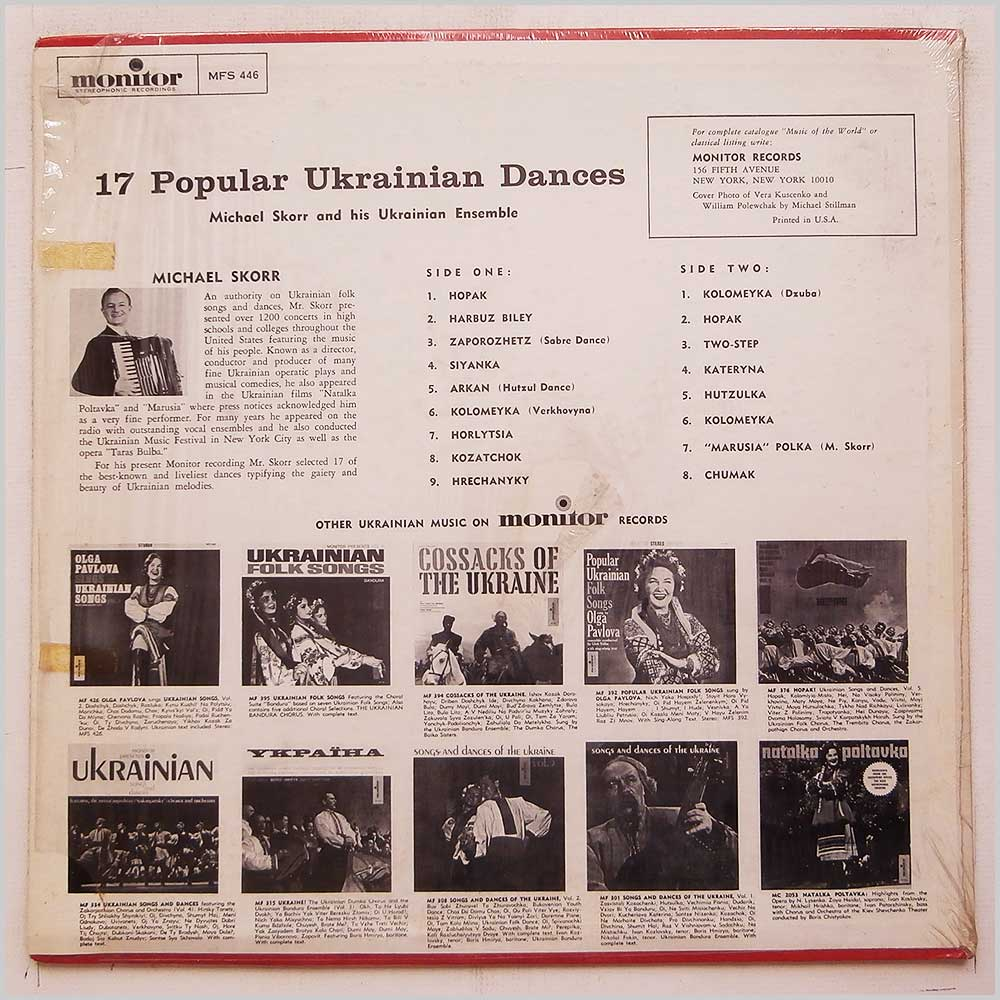 Michael Skorr and His Ukranian Ensemble - 17 Popular Ukrainian Dances (MFS 446)