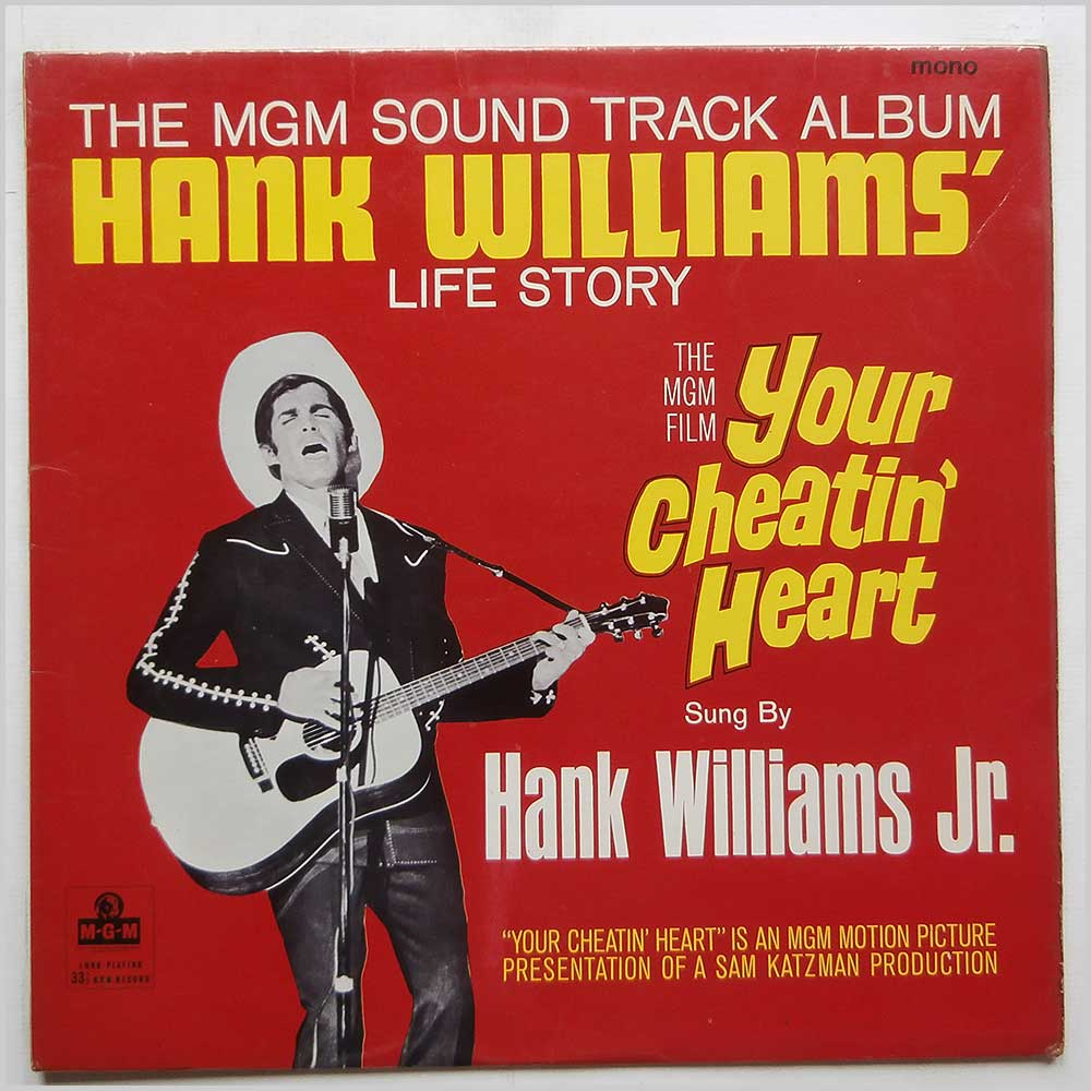 Hank Williams Jr. - Your Cheatin' Heart (Original Motion Picture Sound Track) (MGM C 996)