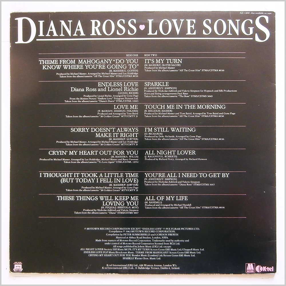 Diana Ross - Love Songs (NE 1200)